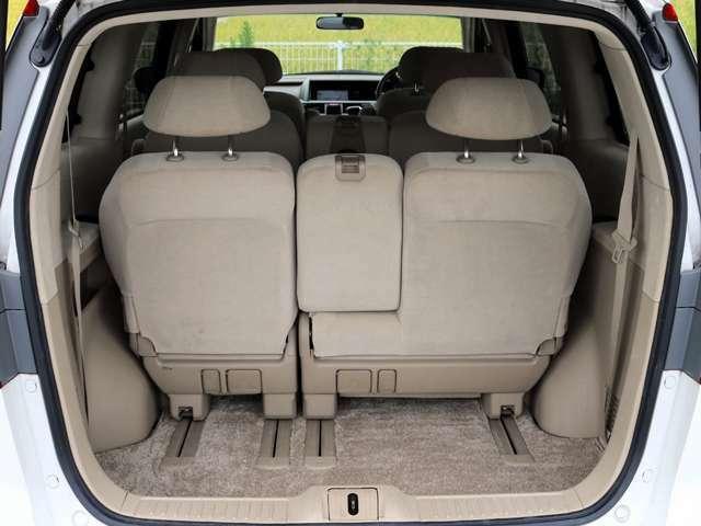 車の高さがあるので背の高い荷物や、幅のとる荷物なども置くことが出来ます。