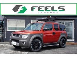 ホンダ エレメント 2.4 4WD 新品MTタイヤ 社外16AW ルーフラック