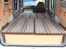 座席兼用ベッドは就寝人数大人2名!240cm×113cm!
