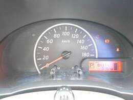 大きく見やすいメーター類!現在の燃費もここで確認できます。