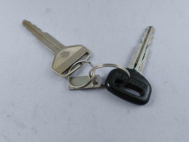 この車のキーです。