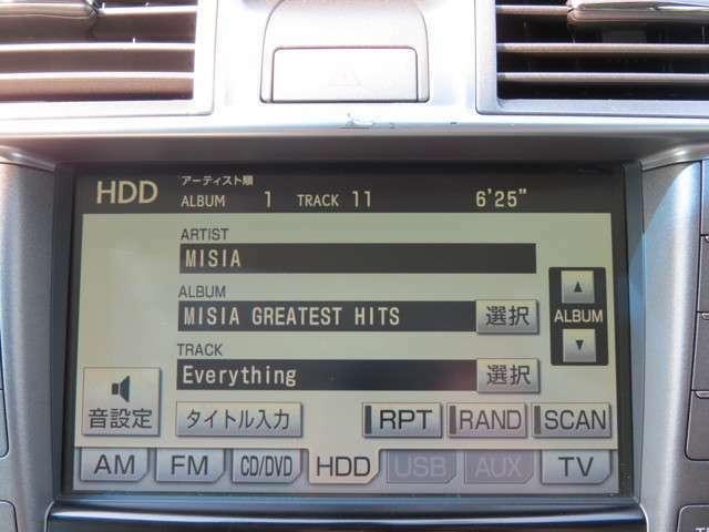 HDDナビでありDVD再生もできたりと充実した音楽機能です!
