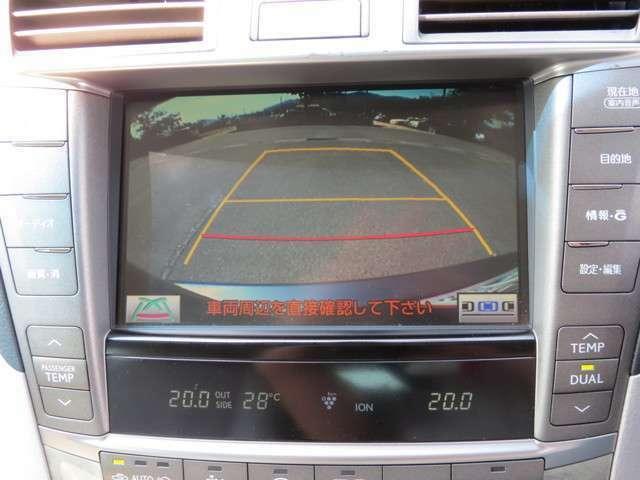 バックカメラも付いているので安心して駐車できます。