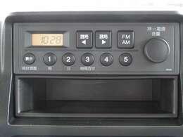 【オーディオ機能】純正FM/AMチューナー装備されております♪お好きなラジオ番組を聞きながら楽しいドライブをお楽しみ下さい♪