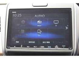 オーデイオメニュー画面。Bluetoothオーディオで音楽をお楽しみください。