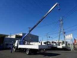 ★4段ブーム/2.9t吊り/ラジコン/フックイン  ★床板張り/木製あおり3方開/ボディ長約5.5m!