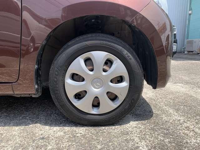 タイヤはノーマルタイヤを履いており、タイヤサイズは145/80R13、タイヤ山はおおよそ各3分山程度、スペアタイヤは車内に積み込んでおります。 車両情報や程度は試乗をして、現車を見て、ご確認下さい!