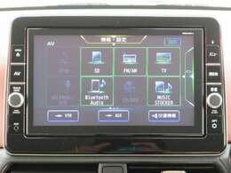 【オーディオ】CD再生の他にTVも視聴可能。Bluetoothオーディオも対応でスマートフォンからお気に入りの音楽を車内で楽しめます。
