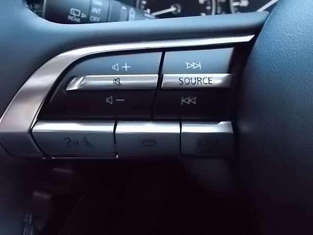 オーディオ操作ができるステアリングスイッチ
