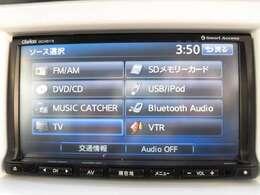 純正SDナビフルセグTVで道に迷わず快適なドライブ!