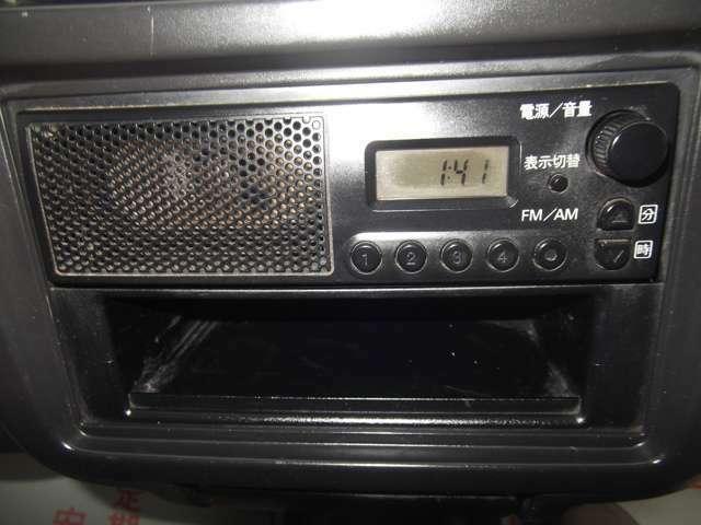 FMラジオ付いてます。