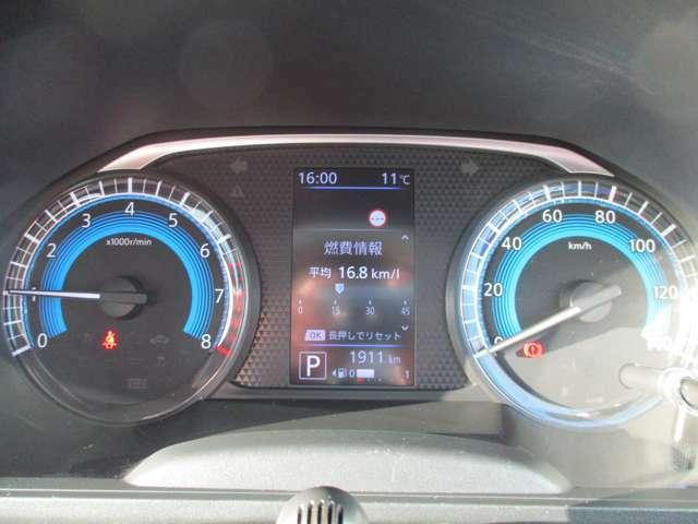 シンプルで見やすいメーター!車両情報等表示してくれる専用ディスプレイ!