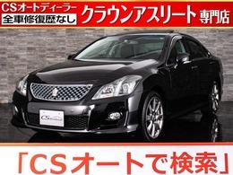 トヨタ クラウンアスリート 3.5 サンルーフ 新品黒本革 HDDマルチ フルセグ