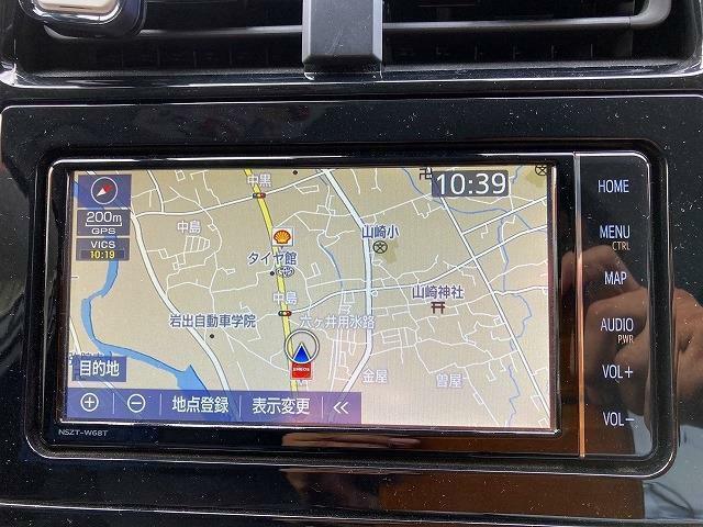 カーナビも装着済みで楽々ドライブ!Bluetooth接続・AUX接続も可能です♪ドライブレコーダーなどの事もおまかせ!