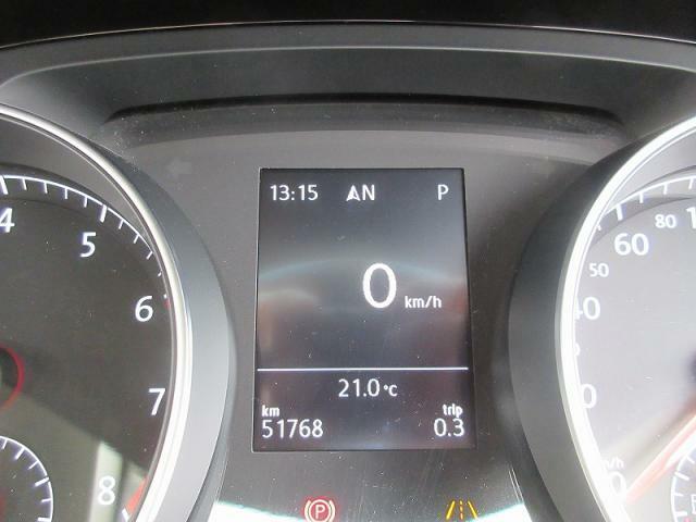 マルチファクションインジゲーター設置瞬間平均燃費、走行距離、平均速度、運転時間、外気温度などを表示♪