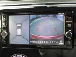 CMでおなじみアラウンドビューモニター☆空から見たような画面で縦列駐車も車庫入れも安心です♪
