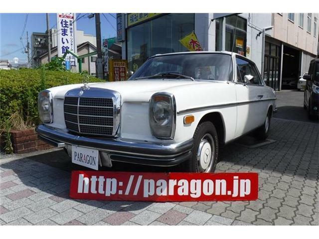 昭和48年式メルセデスベンツ、ミディアムクラスクーペ右ハンドル車!ぜひご覧下さい。