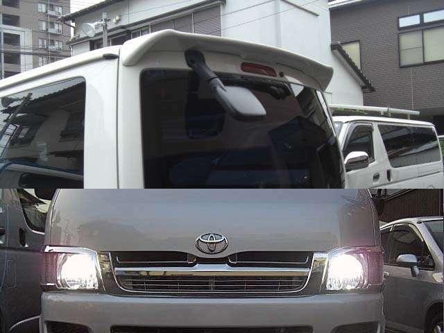 【リアスポイラー装着】と【LEDライト装着】LEDキットは当社指定品を取り付けさせて頂きます。