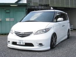ホンダ エリシオン 2.4 X 19インチAW 車高調 革調シートカバー ナビ