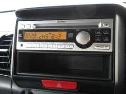 N-BOXカスタムに付いているギャザズ1DINCDチューナー(CX-128C)はCDプレーヤー・AM/FMチューナー付です。お好みの音楽を聞きながらのドライブは楽しさ倍増ですね!