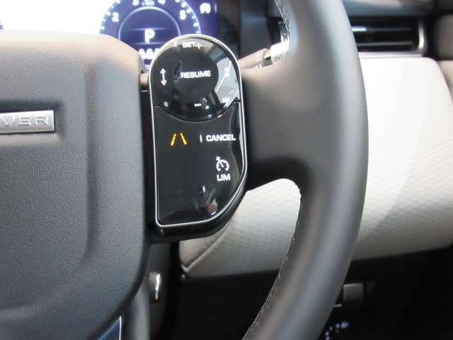 ステアリングスイッチでACC設定も楽々操作可能です。
