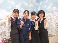 当店スタッフ、総勢10名以上で元気に運営中!女性スタッフも大活躍中です♪♪