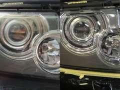 ヘッドライトクリーニングで車のイメージが一新!国産、輸入車も美しい輝きを取り戻します。詳しくは当社HPで