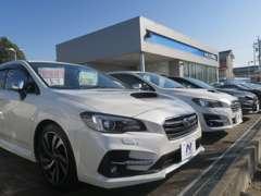 展示場も広く、たくさんのお車を一度にご覧頂くことが可能です。ご希望のお車がきっと見つかりますよ!
