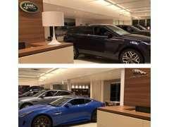 最新CIを採用した東海地区最大級のショールームとなります。常時8台の展示車をご用意しております。