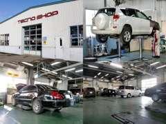 整備工場完備でアフターサービス体制OK!プロのメカニックによる点検や整備、修理、車検など、安心のアフターサービスです!!