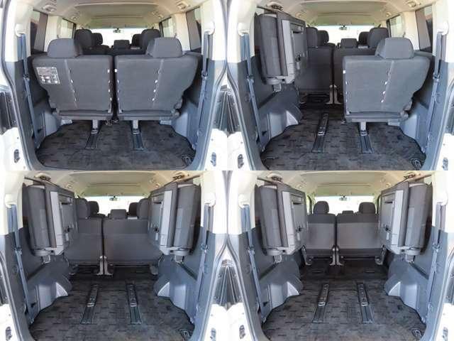 セカンドシートからサードシートまでをアレンジ 車中泊にもお薦めのスタイルです