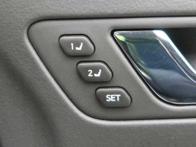 【シートポジションメモリー】運転手のお好みのポジションを記憶させることが可能な装備です!