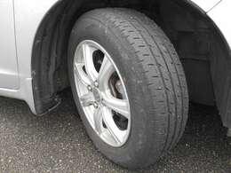 タイヤも山バッチリ、アルミホイルもきれいです。