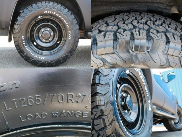 FJクルーザー鉄チンホイール×BFグットリッチタイヤ(265/70/17)新品インストール!!オシャレは足元から!という言葉がありますが、車も同じですね!!