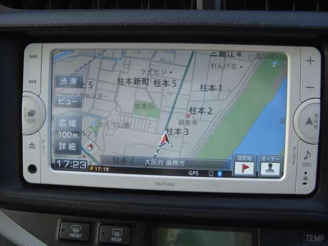 ステアリングリモコン対応、バックカメラ、Bluetooth接続対応ナビです。