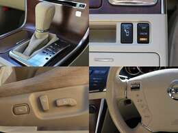 運転席にパワーシートが付いていますので無段階でお好みのポジションにセットできます。細かく自分仕様のシートポジションへ設定してください☆