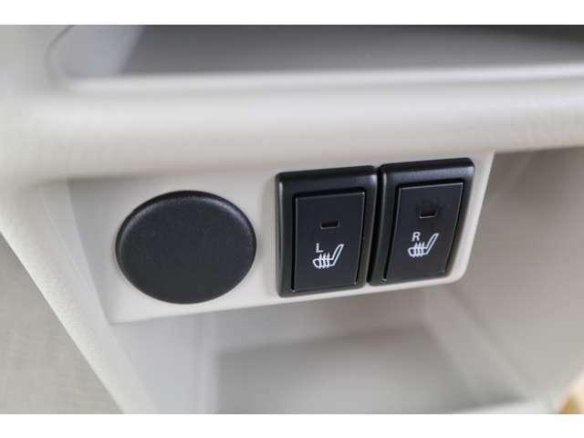 運転席助手席シートにシートヒーターを装備してます。