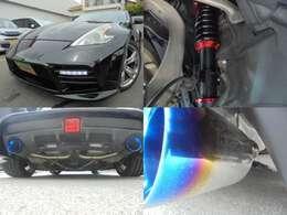 LED付新品ウェーバースポーツエアロ・新品ブリッツ車高調・HKSスーパーサウンドマスターマフラーチタン仕様(フロントパイプより交換)