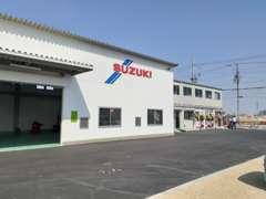 近畿運輸局認証工場併設にて、アフターサポートも安心のスズキプラザ松原です。