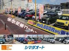 未使用車両コーナーも充実の在庫50台!展示車に無いグレードや色などもお気軽にご相談下さい!他拠点よりお探しします♪