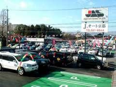 京都最大級の展示場。常時100台以上を展示中!お探しのお車きっと見つかります!