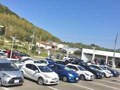 第2駐車場には軽自動車、コンパクト、ミニバン、SUVを多数展示!