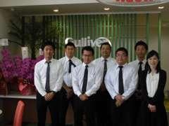 店長の岡村をはじめ、7名でお客様をお迎え致します。