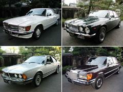 旧年式車・ノスタルジックカー等、個性的なクルマが多数あり。