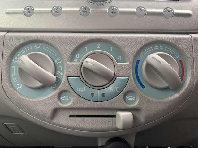 ☆エアコン装備!ダイヤル式ですので操作しやすい。