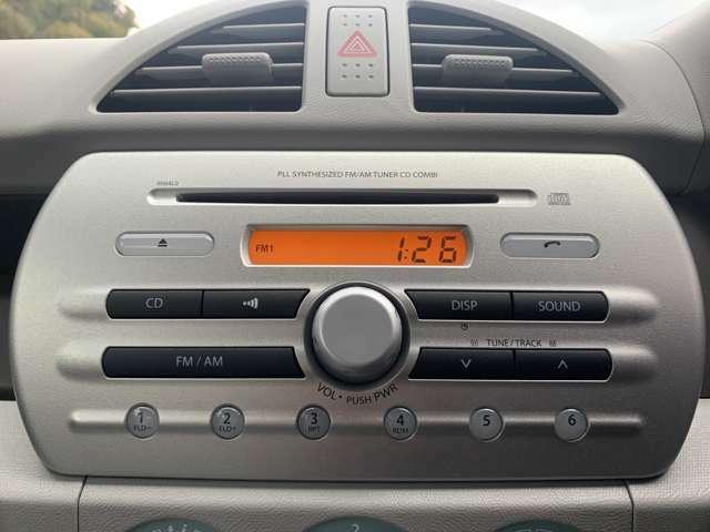 ☆純正のオーディオ装備!ドライブ中にCD、FM、AMを楽しむことができます。