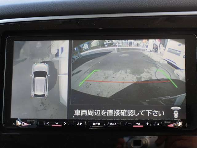 全方位カメラ映像はナビ画面表示です。
