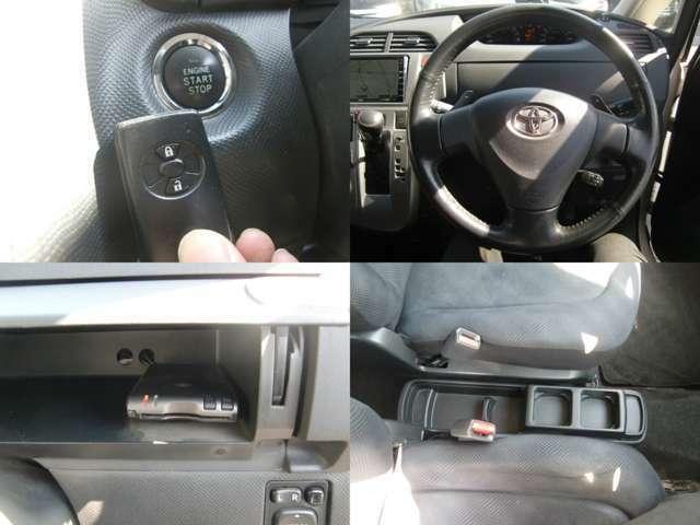 便利なスマートキー&プッシュスタート車♪ETCも装備済み♪カッコいいステアリングにドリンクホルダーなど!室内快適装備のラクティス1.5G Lパッケージ入庫です☆