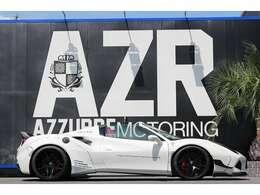 全長4570mm×全幅2080mm×全高1190mm ロベルタ製エアサス装備しておりますので、車高の高さも自由自在!!