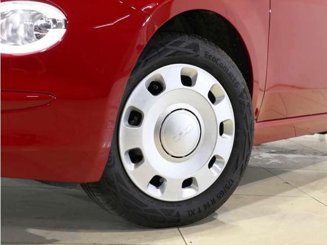 タイヤは14インチ!軽量でコストも低く、維持が楽ですね!